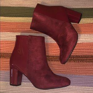 Windsor burgundy booties